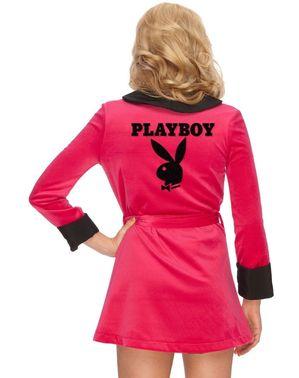 Roupão Sexy cor-de-rosa Playboy