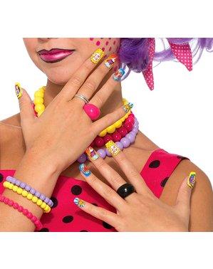 Umělé nehty ve stylu pop art
