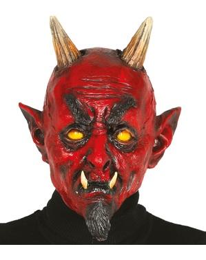 Maske Höllenteufel aus Latex für Erwachsene