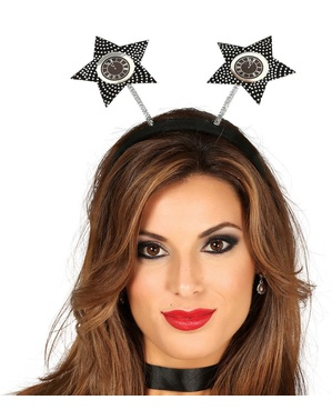 Black and gold stars headpiece for adults