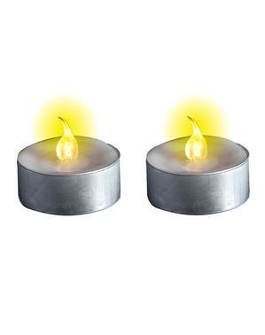 Velas redondas com luz led