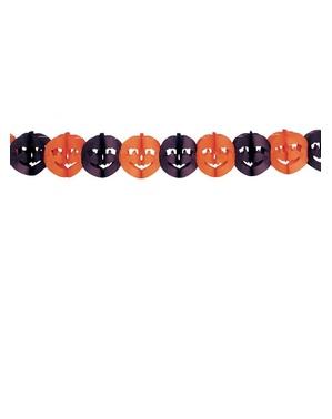 Guirnalda calabazas naranjas y negras