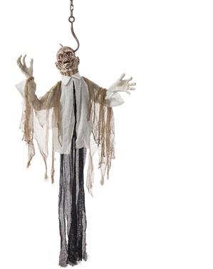 Figura de pendurar de zombie pendurado com luz, som e movimento (180cm)