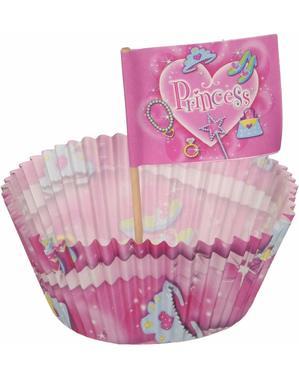 24 cupcake formar och dekorationer Princess