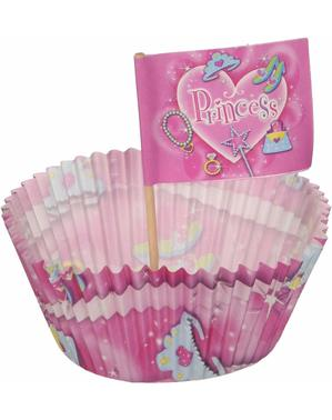 24 cupcake cases and Princess decorations