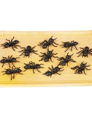 Zakje met 12 decoratieve mieren