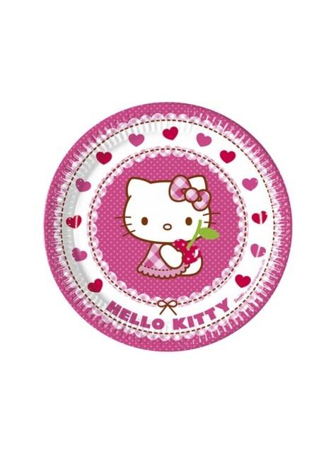 8 Talerze Hello Kitty (23cm) - Hello Kitty Hearts