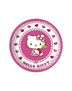 8 Hello Kitty tallrikar (23 cm) - Hello Kitty Hearts