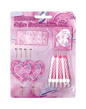 Prinsessen cake decoratie set