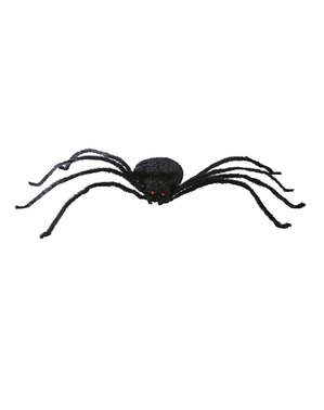 110cm Formbar Sort Enke Edderkopp