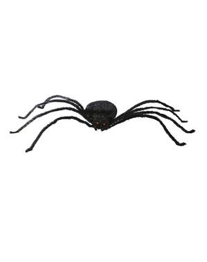 Dekorace pavouk černý ohebný