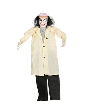 Hangende gekke dokter figuur met licht en geluid