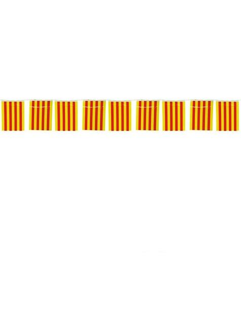 Grinalda 50 m. bandeiras Catalãs grandes