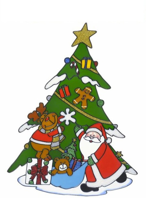 Naklejka na okno choinka świąteczna