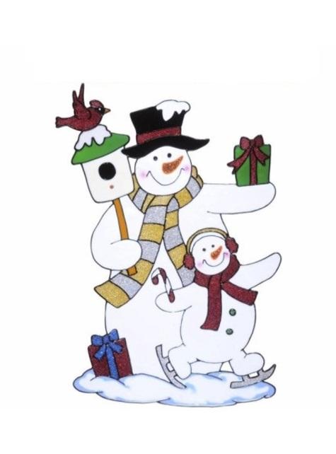 6 bonhomme de neige fenêtre gobelets-Noël