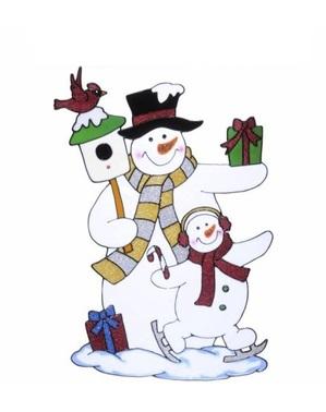 Raamsticker van sneeuwpop
