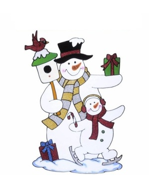 Snowmen window sticker
