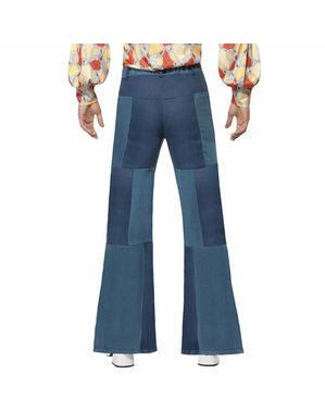 Miesten leveälahkeiset housut