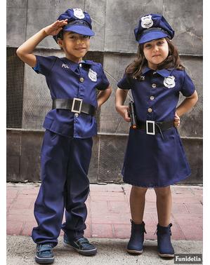 Policajný kostým pre dievčatá