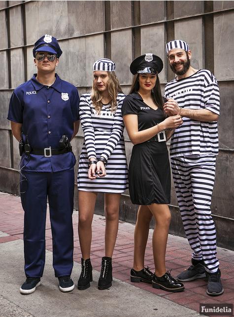 Gevangenen kostuum voor mannen