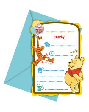 6 invitations Winnie Sweet Tweets