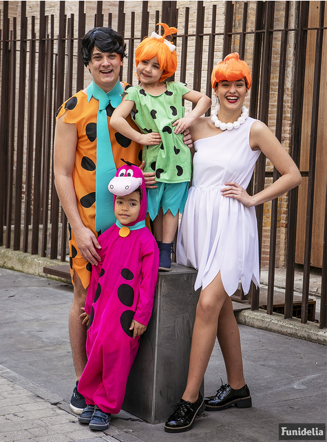 Dino Kostüm für Kinder - Familie Feuerstein