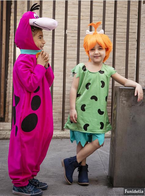 Fato de Pebbles para menina - Os Flintstones
