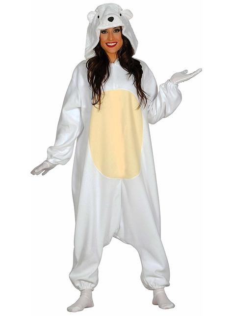 Kostium kochający miś polarny onesie dla dorosłych