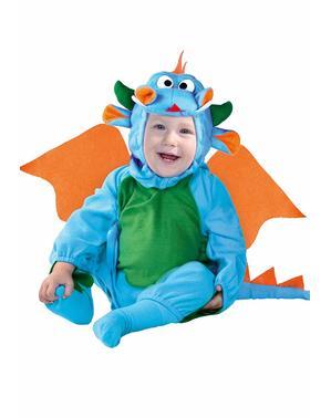 Бебешки костюм на синьо драконче