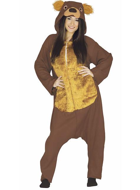 Disfraz de oso marrón para adulto