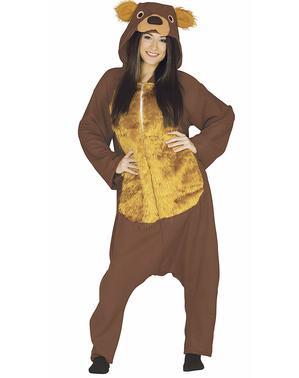 Kostuumbruine beer Kostuum voor volwassenen