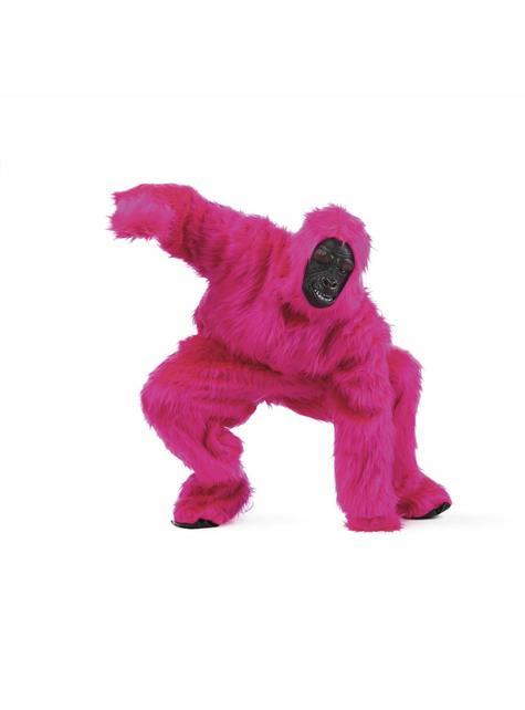 Déguisement de gorille rose