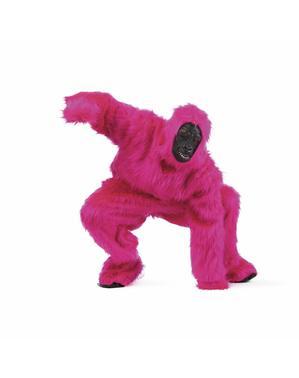 Iso pinkki gorilla asu aikuiselle