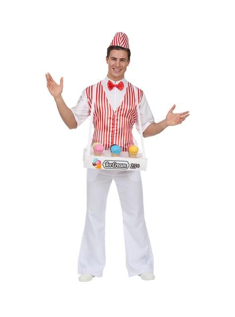 Ice cream man costume for men
