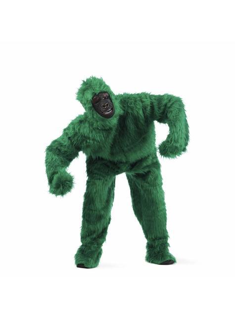 Stor Grønn Gorilla Kostyme Voksen