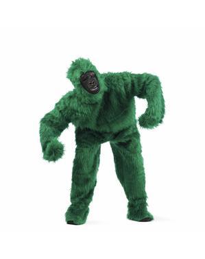 Великий зелений горила дорослих костюм