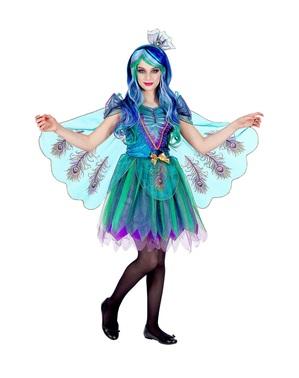 Påfugl kostyme til jenter
