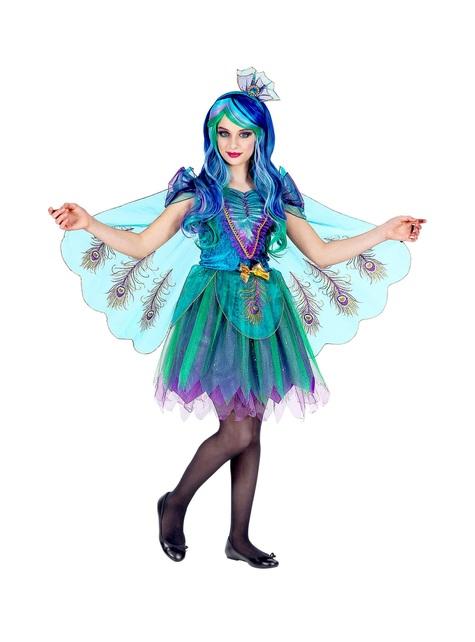 Pfauen Kostüm für Mädchen
