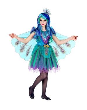 Disfraz de pavo real para niña