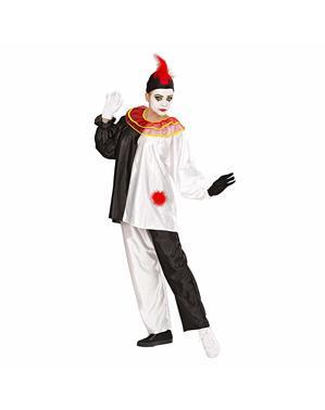 Mimande clown vuxendräkt
