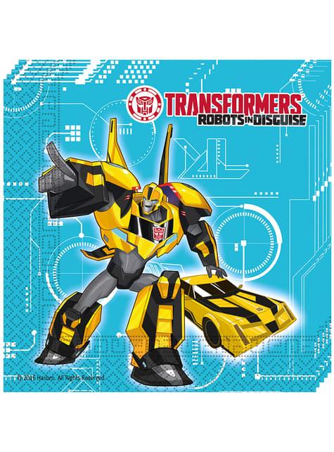 20 servilletas Transformers Power Up (33x33 cm)