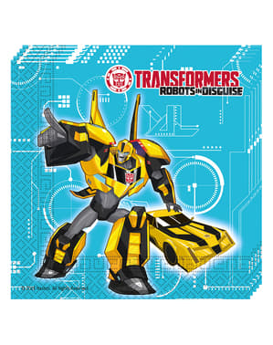 20 servilletas Transformers Power Up (33x33 cm)