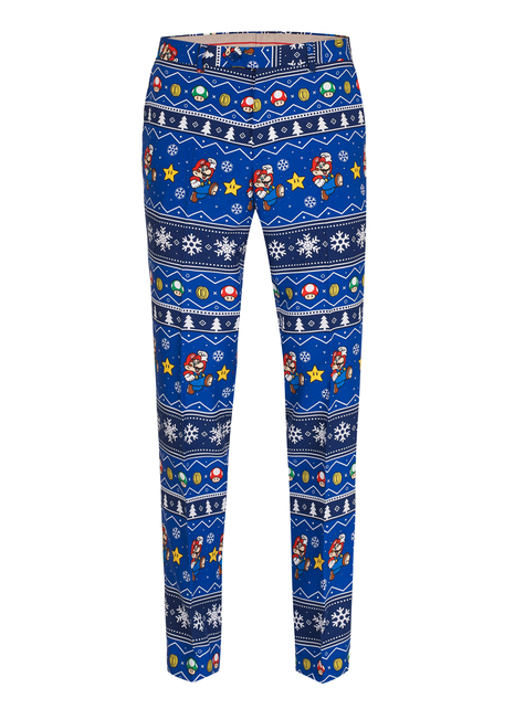 Fato de Super Mario Bros natalício Opposuits