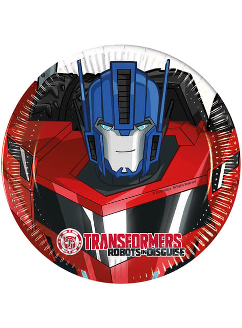 Set of 8 Transformers Power Up 20cm Plates