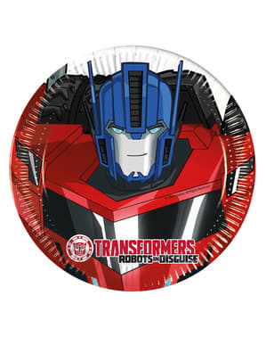 8 platos Transformers Power Up (20 cm)