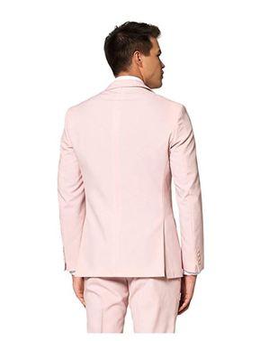 Fato cor-de-rosa pastel