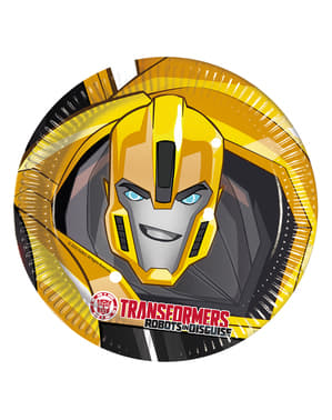8 platos Transformers Power Up (23 cm)