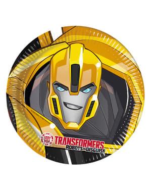 8 pratos Transformers Power Up (23 cm)
