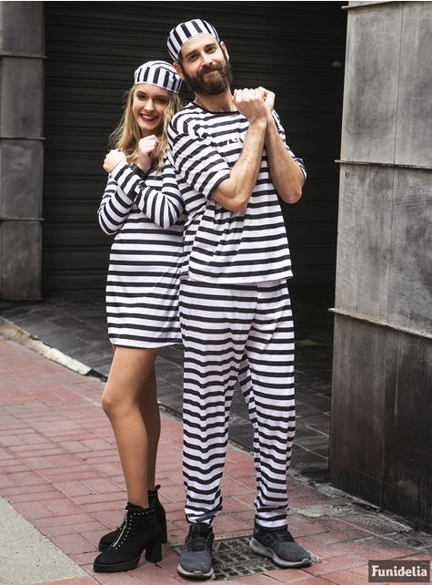 Grote maat Gevangene kostuum voor vrouwen