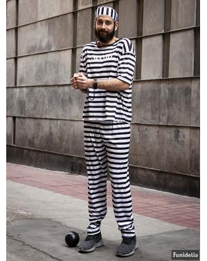 Grote maat Gevangenen kostuum voor mannen